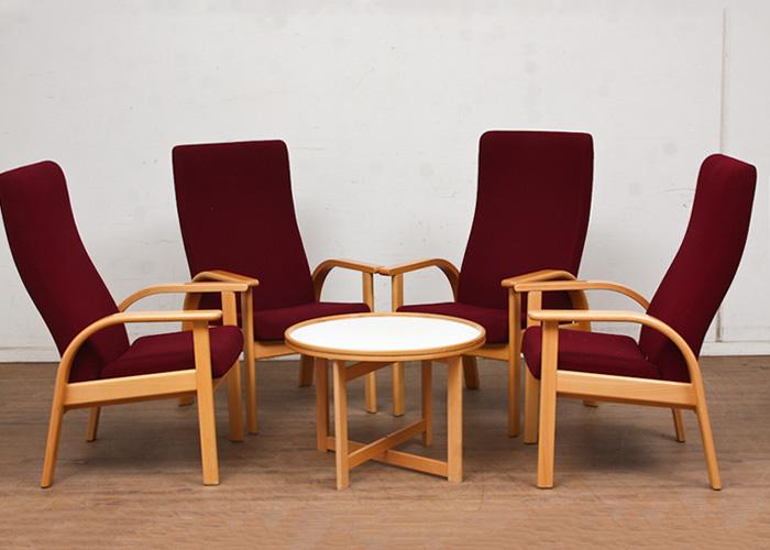 ØND   Armchair Table Poltrona Tavolo Design Scandinavo   ARMCHAIR A0133 + TABLE T0108